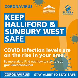 An image relating to COVID-19 cases - Halliford and Sunbury West
